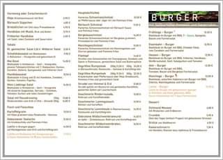 """Ist möglicherweise ein Bild von Text """"Vorneweg oder Zwischendurch (Knoblauchsauce) Bärlauch Süppchen 2,90 Hauptsächliches Butter Musik, Handkäse Salat, Zwiebeln Bärlauch Schnitzel 10,50 5,70 6,50€ Sauerrahm Bergkäseschnitzel BURGER 2,50 Mittlerer Salat 5,00€ 9,90€ 14,00 Frühlings Beefsteak Burger BBQ, 13,50€ Sauce, Spiegelei, Burger Handkäsesalat rittierter Zwiebeln Gegrilltes mit Zwiebeln 12,90€ Cheddar Käse, Farmersalat Lieblings Salat 24,00€ 14,50€ BBQ, frittierter Handkäse, Tomaten 13,50 22,50€ (Knoblauch), Zwiebelringen 250g Farmersalat 13,80 Rinderroulade, 13,50 Burger Farmersalat Geschmorter Burger 13,50 Ratatouille Gemüse Gebackener Seelachs 10,50 gebackenem 15,90€ 13,90€ Ratatouille frites 12,50€ Orangen Marktgemüse Kartoffelgratin 14,90€ 14,50 Kartoffelgratin Hollandaise Rotkraut Geschmorter Mousse Erdbeeren Salzkartoffein 17,90€ Kartoffelgratin 16,50€ 4,80 mit Mandeln, Rosinen Apfelmus Preiselbeeren"""""""