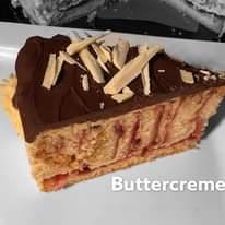 """Ist möglicherweise ein Bild von Nachspeise und Text """"S Buttercreme Butte"""""""